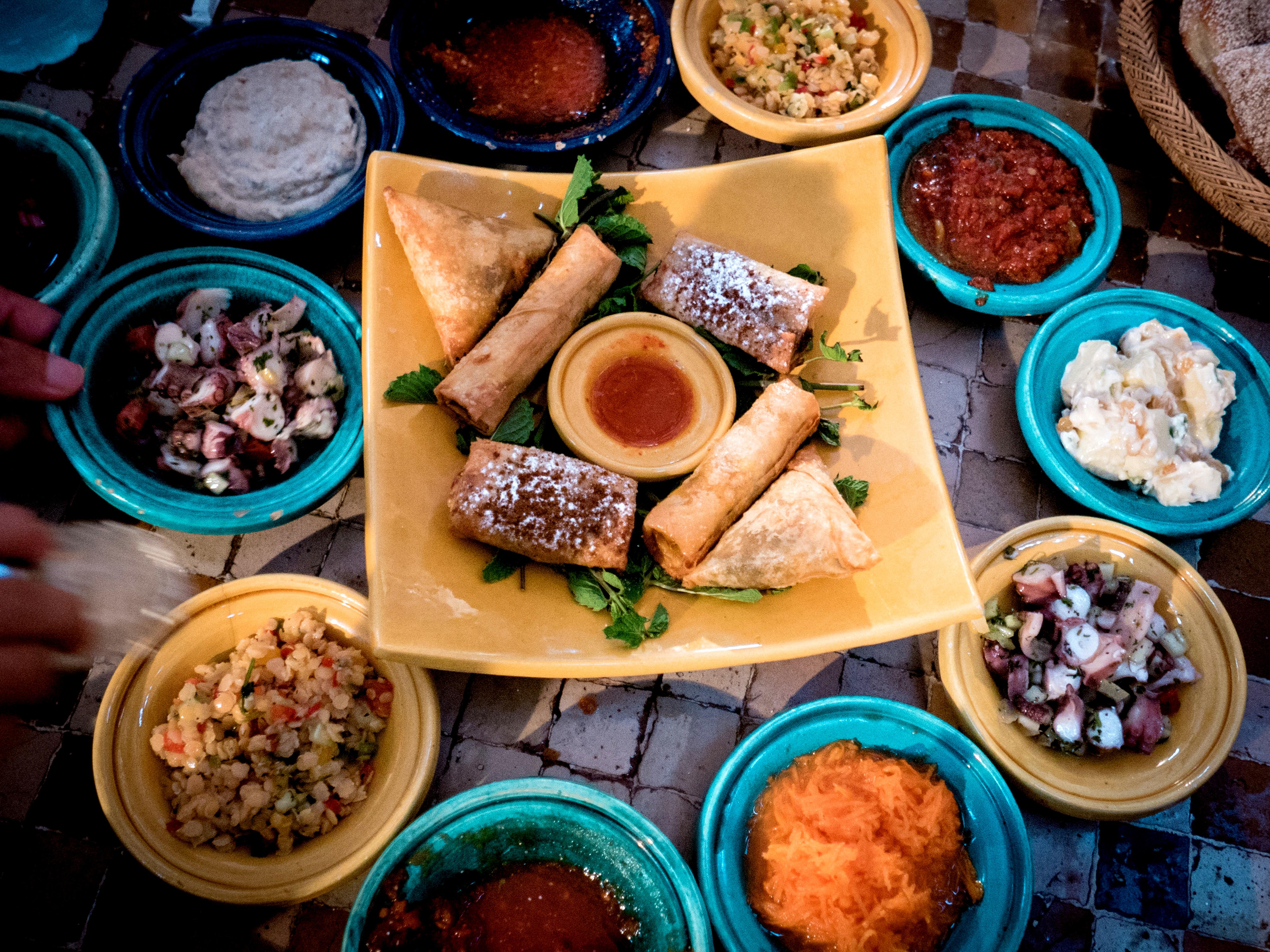 Kulinarische Spezialitäten Der Marokkanischen Küche